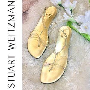 Stuart Weitzman Gold Iridescent Sandals